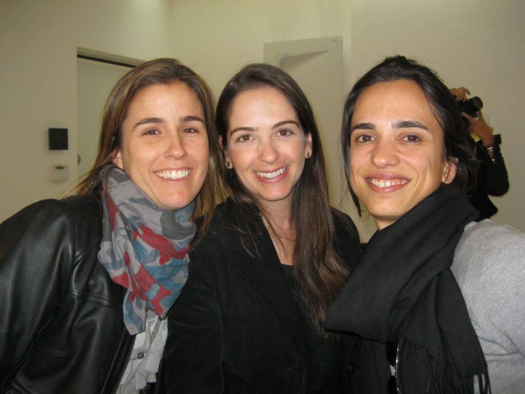 Juliana Diniz, Eduarda Paranhos e Bárbara Rocha