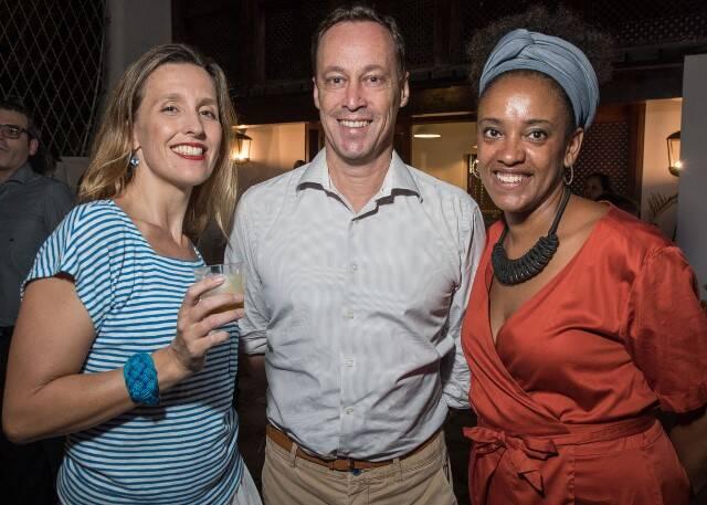 Julie Godefroy assessora do consulado da França, Jean Paul Lefevre, presidente da Aliança Francesa Brasil e Danni Camilo, proprietária do Miam Miam e Oui Oui