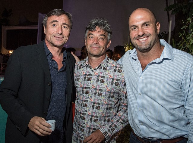 Patrick Dauga, presidente da Solidariedade França-Brasil, Pierrick Sauvage e Robert Klein