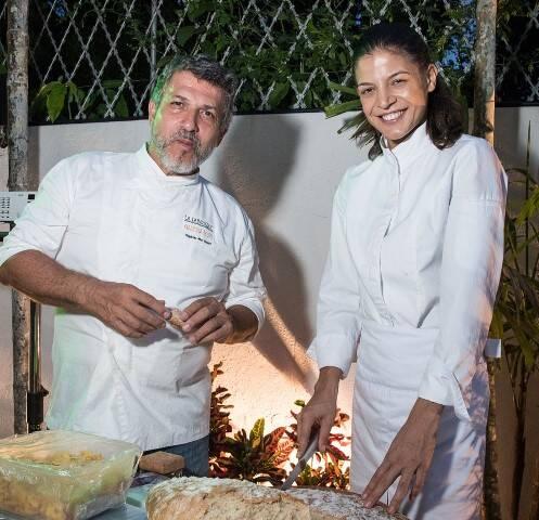 Stephane Haddad e Scheila Antunes
