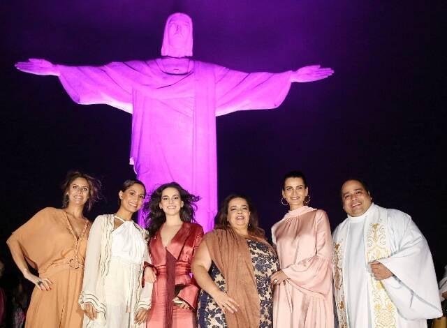 Daniela Oscar, Camila Pitanga, Tainá Müller, Marcelle Medeiros, Fernanda Motta e Padre Omar