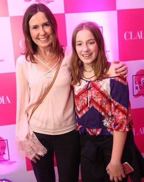 Susana Naspolini com a filha Julia