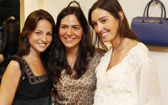 Patrícia Bonaparte, Carol Sampaio e Stephanie Hein