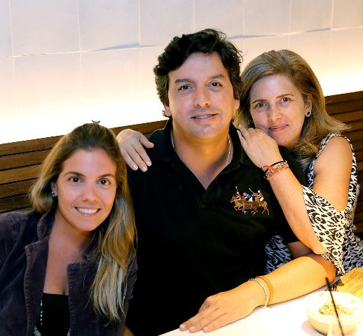 Roberta Gandara, Ricardo Dale e Kika Gama Lobo