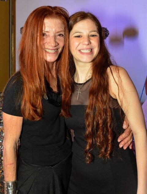 Teresa Freire com a filha Branca