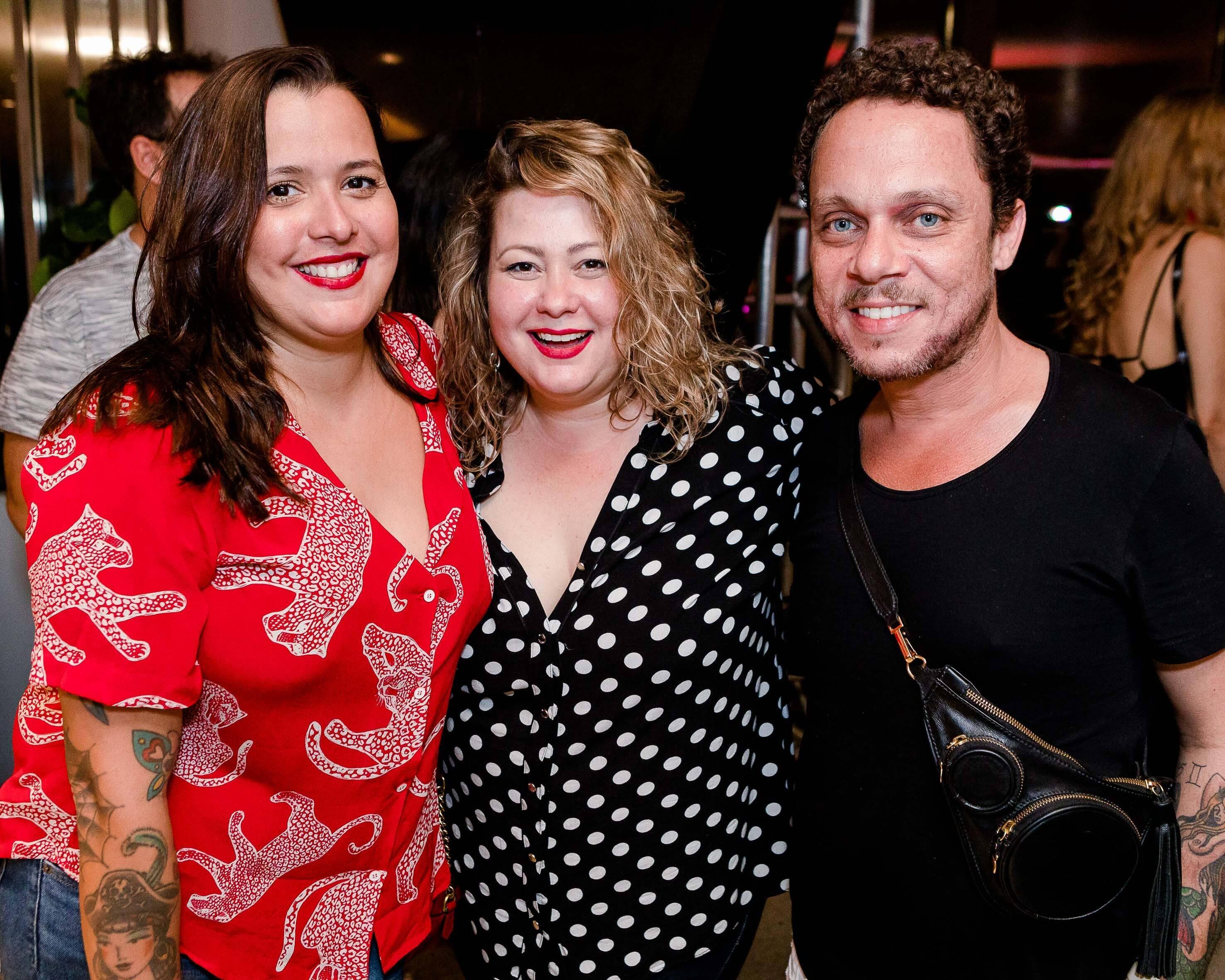 Athia Gomes, Mariana Raiel e Alexandre Martins /Foto: Bruno Ryfer