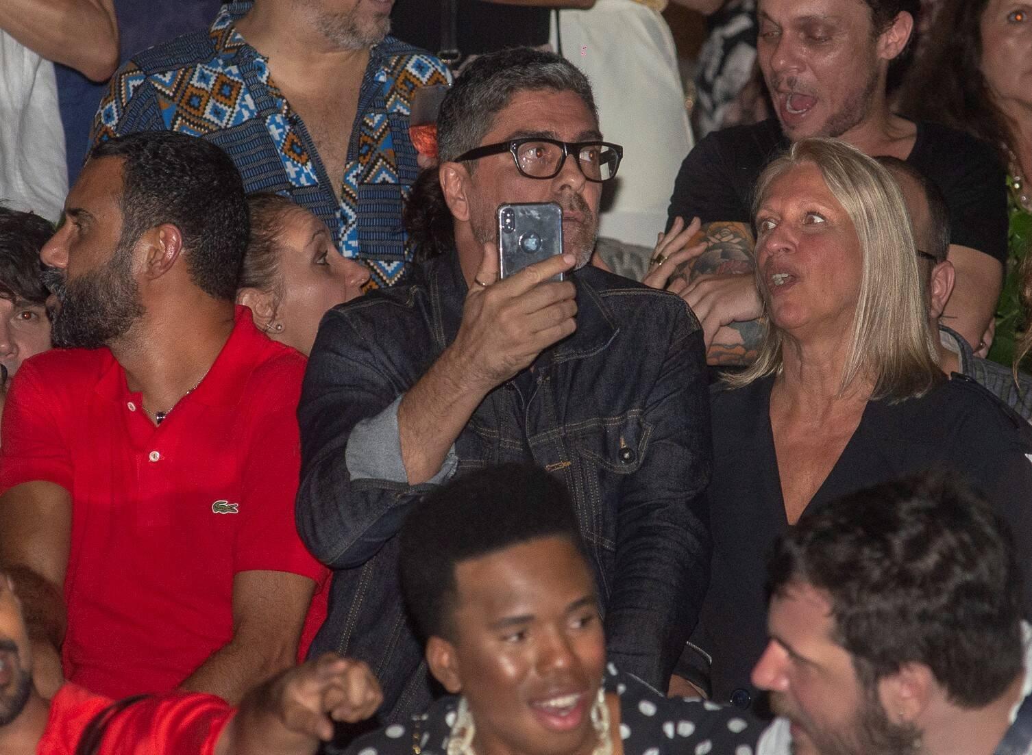 Junno Andrade na plateia esperando o momento de clicar Xuxa /Foto: Felipe Panfili