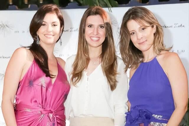 Marta Macedo, Constance Zahn e Daniela Bechara