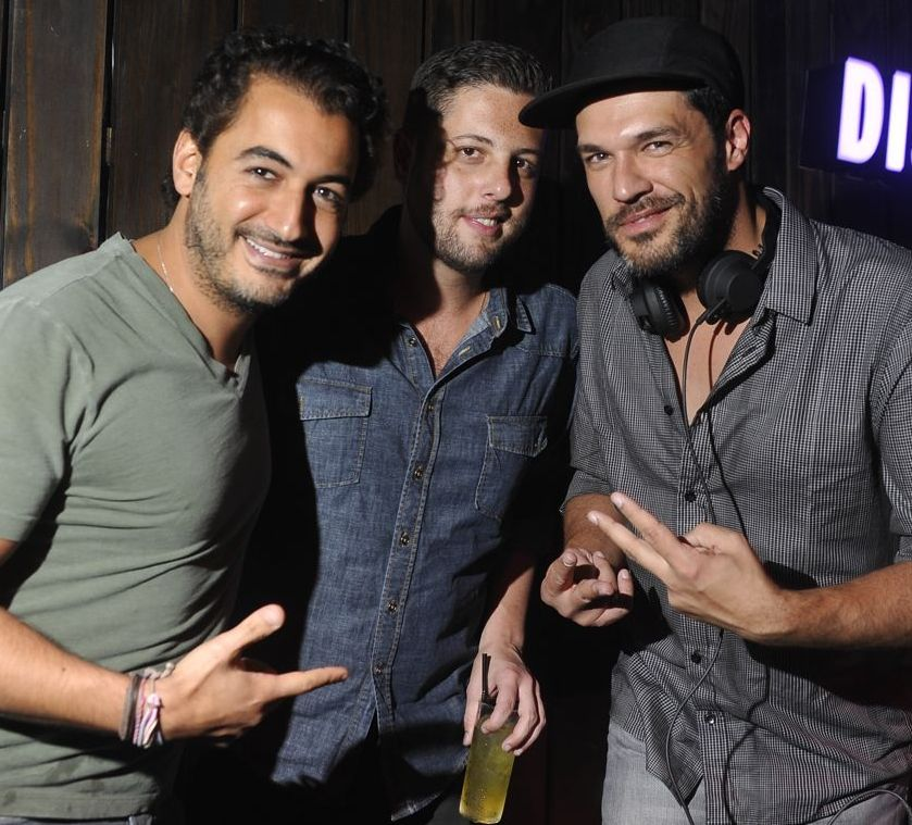 Michel Saad, Diogo Accioly e DJ Phonique