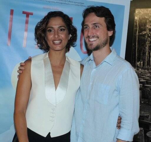 Camila Pitanga e o namorado Igor Angelkorte