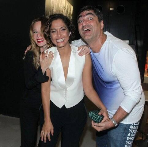 Mariana Ximenes, Camila Pitanga e Zeca Camargo