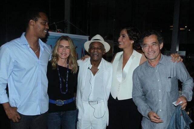 Rocco Pitanga, Maitê Proença, Antônio Pitanga, Camila Pitanga e Chico Diaz