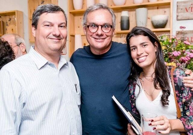 Humberto Cárcamo, Gustavo Rocha Lima e Sofia Rocha Lima