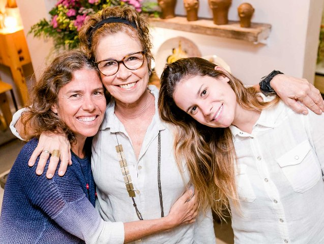 Mônica Soffiatti, Taciana Amorim e Nina Amorim