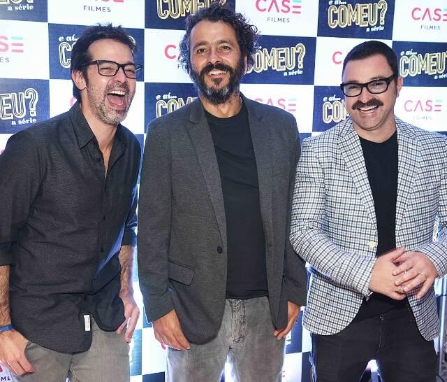 Bruno Mazzeo, Marcos Palmeira e Emílio Orciollo Netto