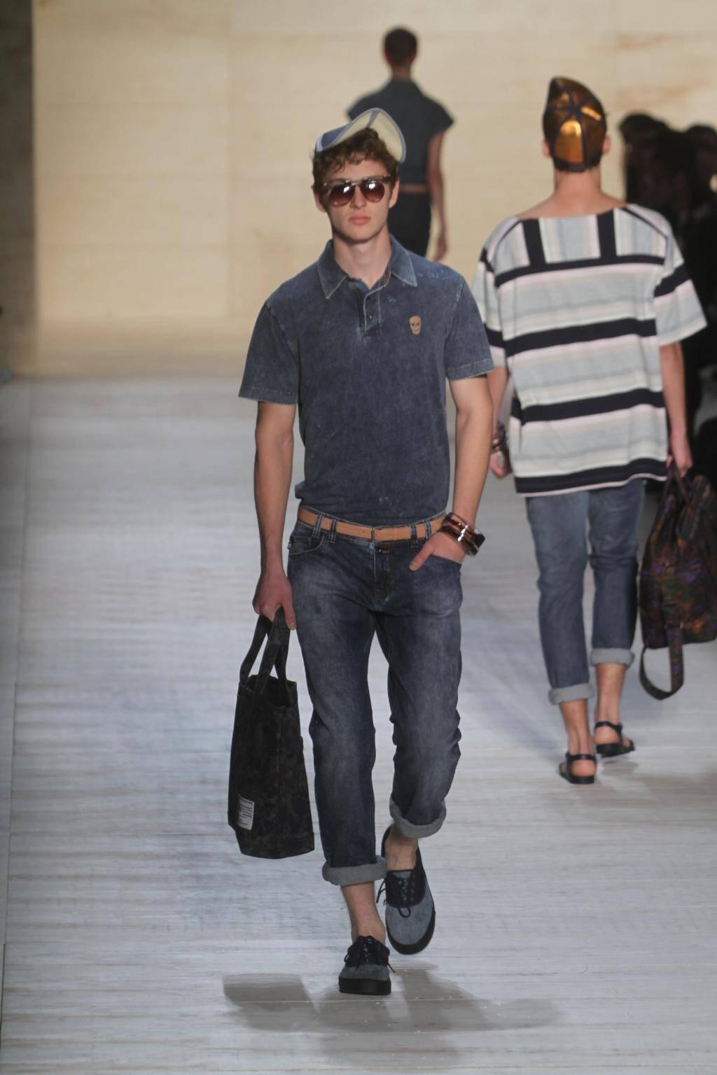 HERCHCOVITCH, jeans + jeans! Bolsa, sapato desejo