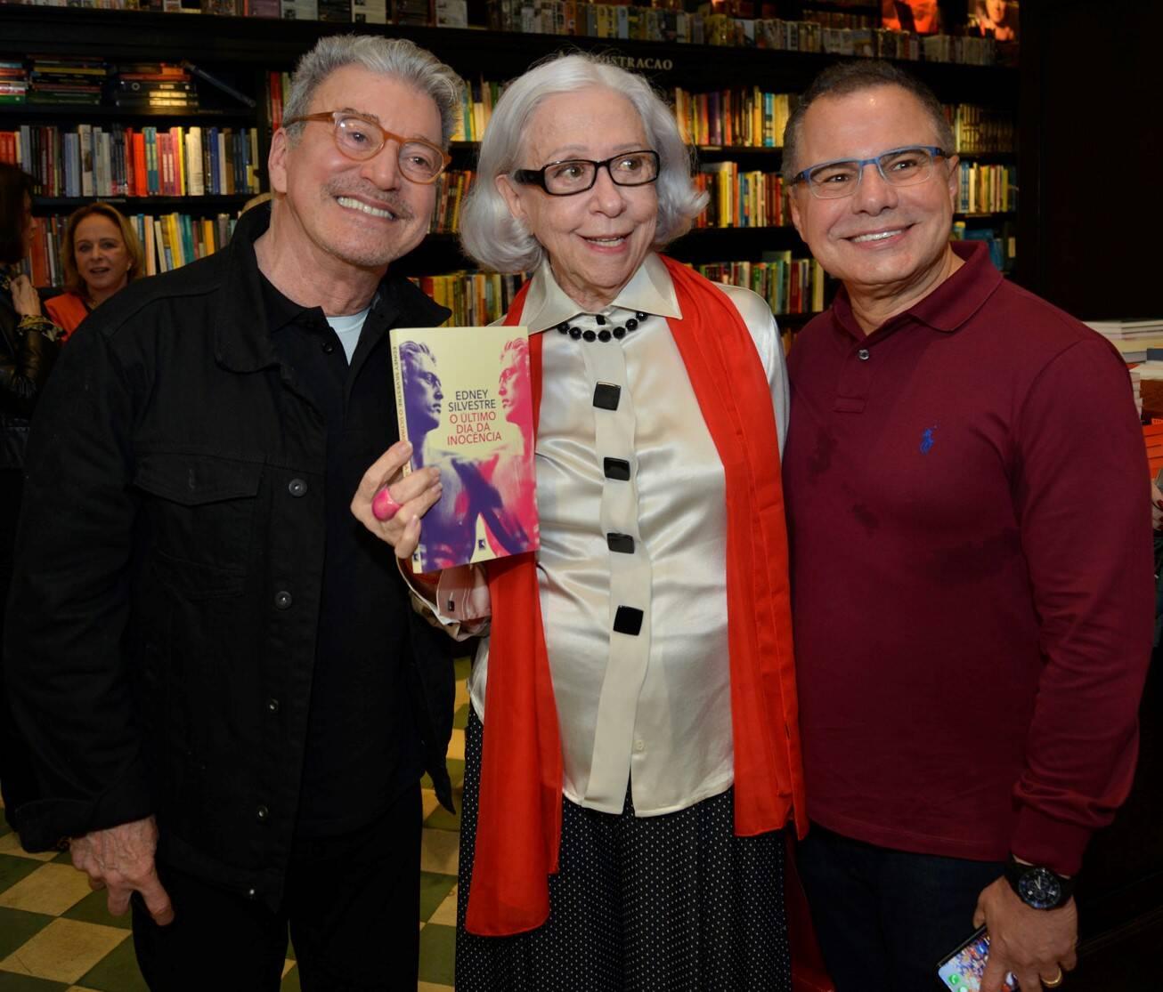 Edney Silvestre, Fernanda Montenegro e Ricardo Linhares /Foto: J Egberto
