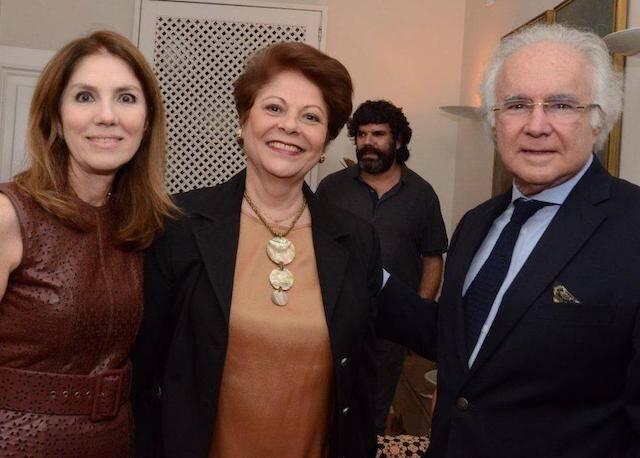 Viviane Falcão, Célia Portella e Joaquim Falcão
