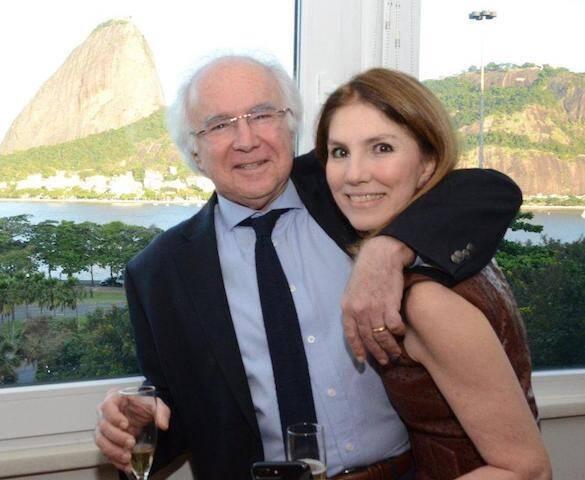 O casal Joaquim e Viviane Falcão