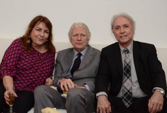 Bia Corrêa do Lago, Geraldo Holanda Cavalcanti e Antônio Carlos Secchin