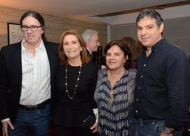 Geraldinho Carneiro, Ruth Niskier, Gilda Mattoso e Carlos Cardoso