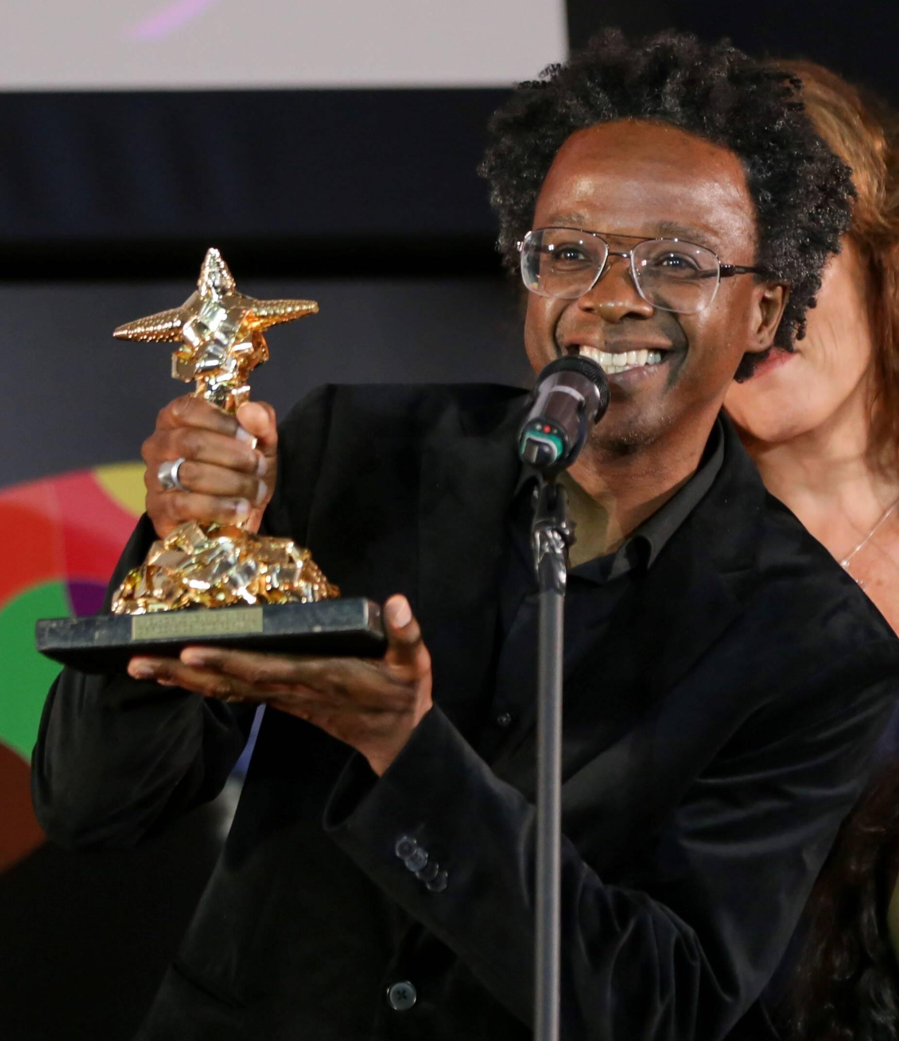 No voto popular Jeferson De levou o prêmio de melhor longa de ficção /Foto: Davi Campana