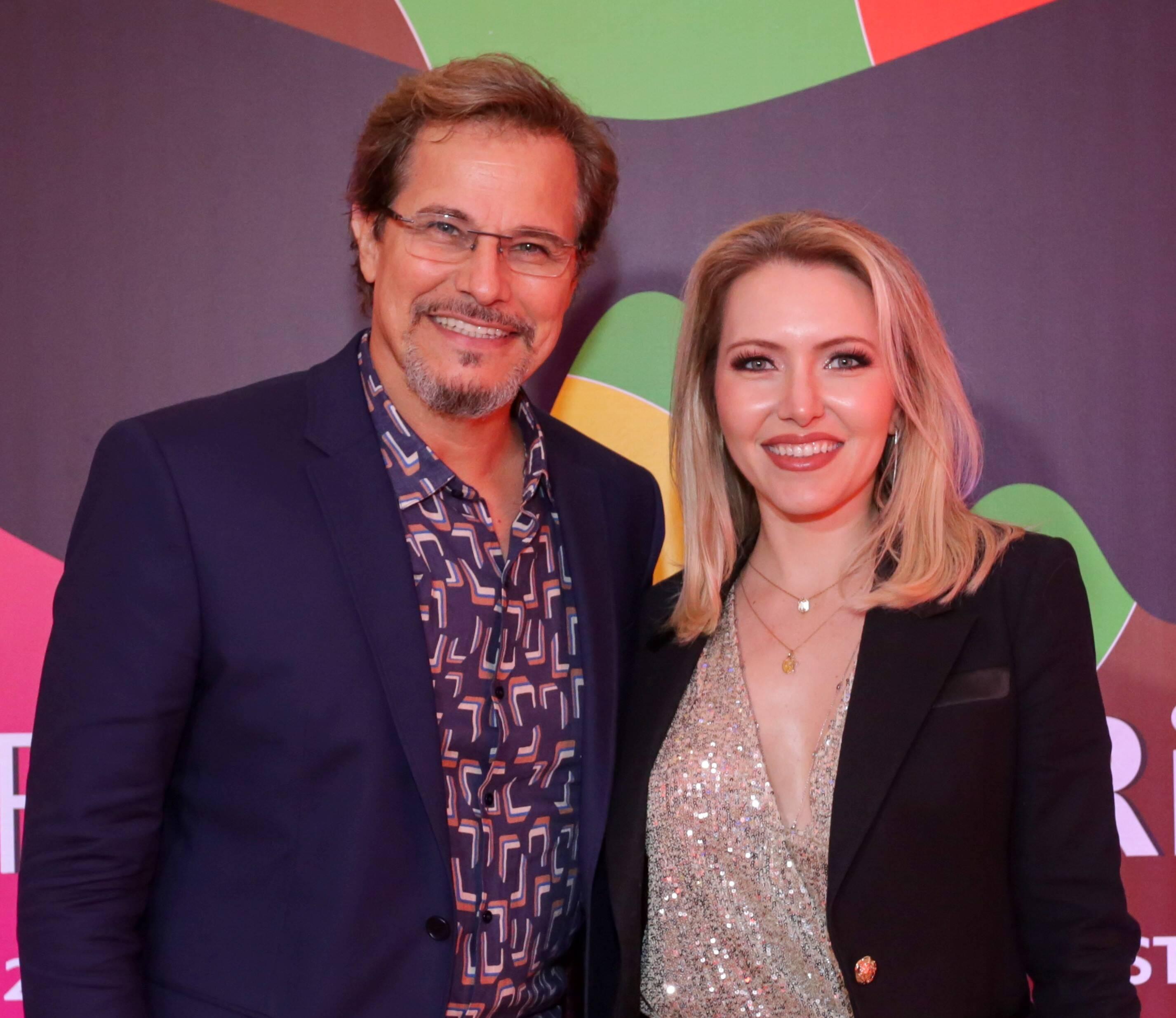 O casal Edson Celulari e Karin Roepke /Foto: Davi Campana