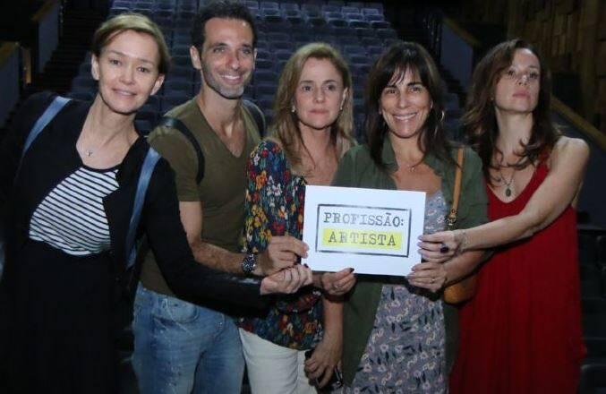 Julia Lemmertz, Mouhamed Harfouch, Marieta Severo,  Glória Pires e Vanessa Gerbelli