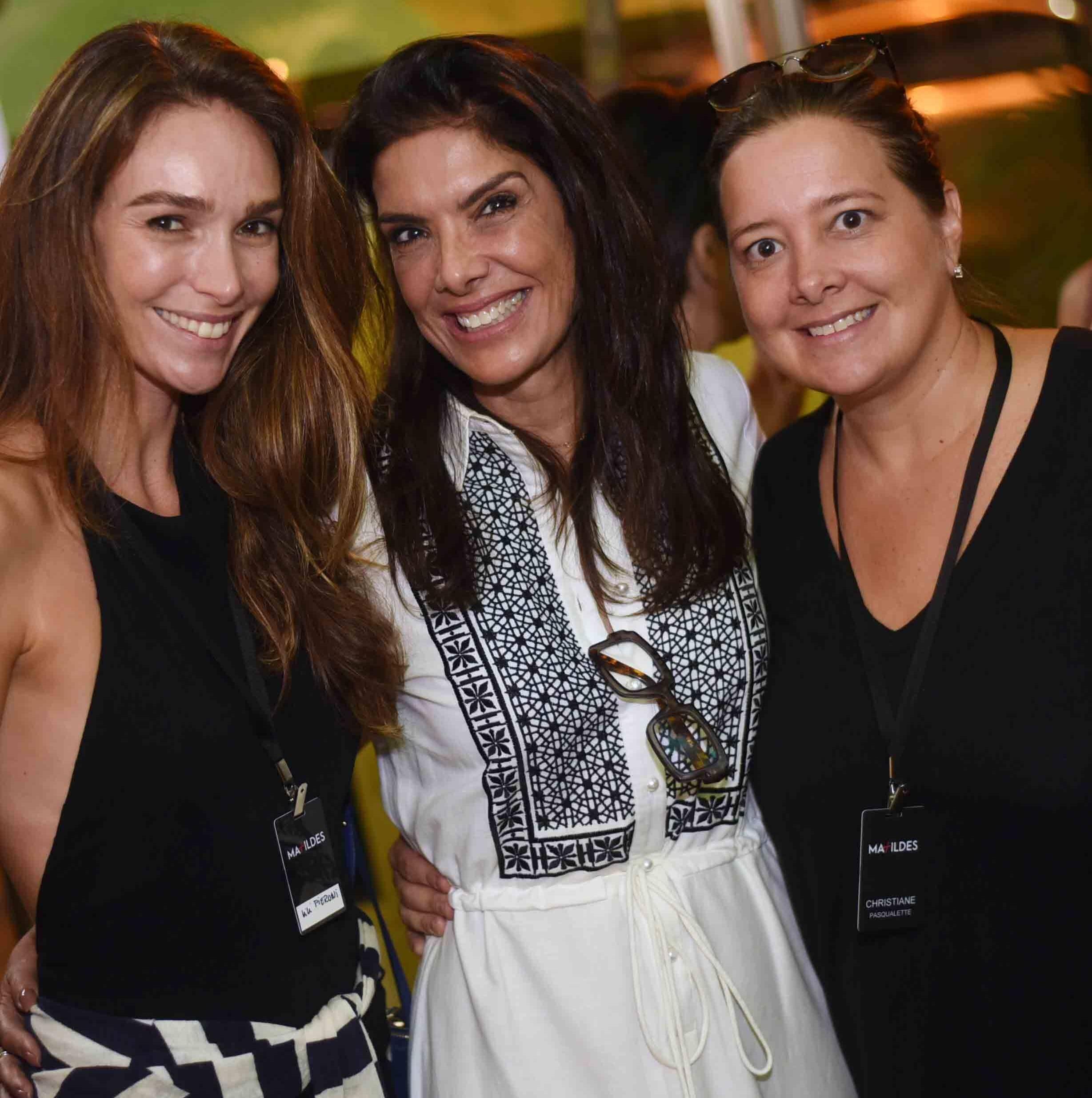 Lilian Pieroni, Patricia Brandão e Chris Pasqualette  /Foto: Ari Kaye
