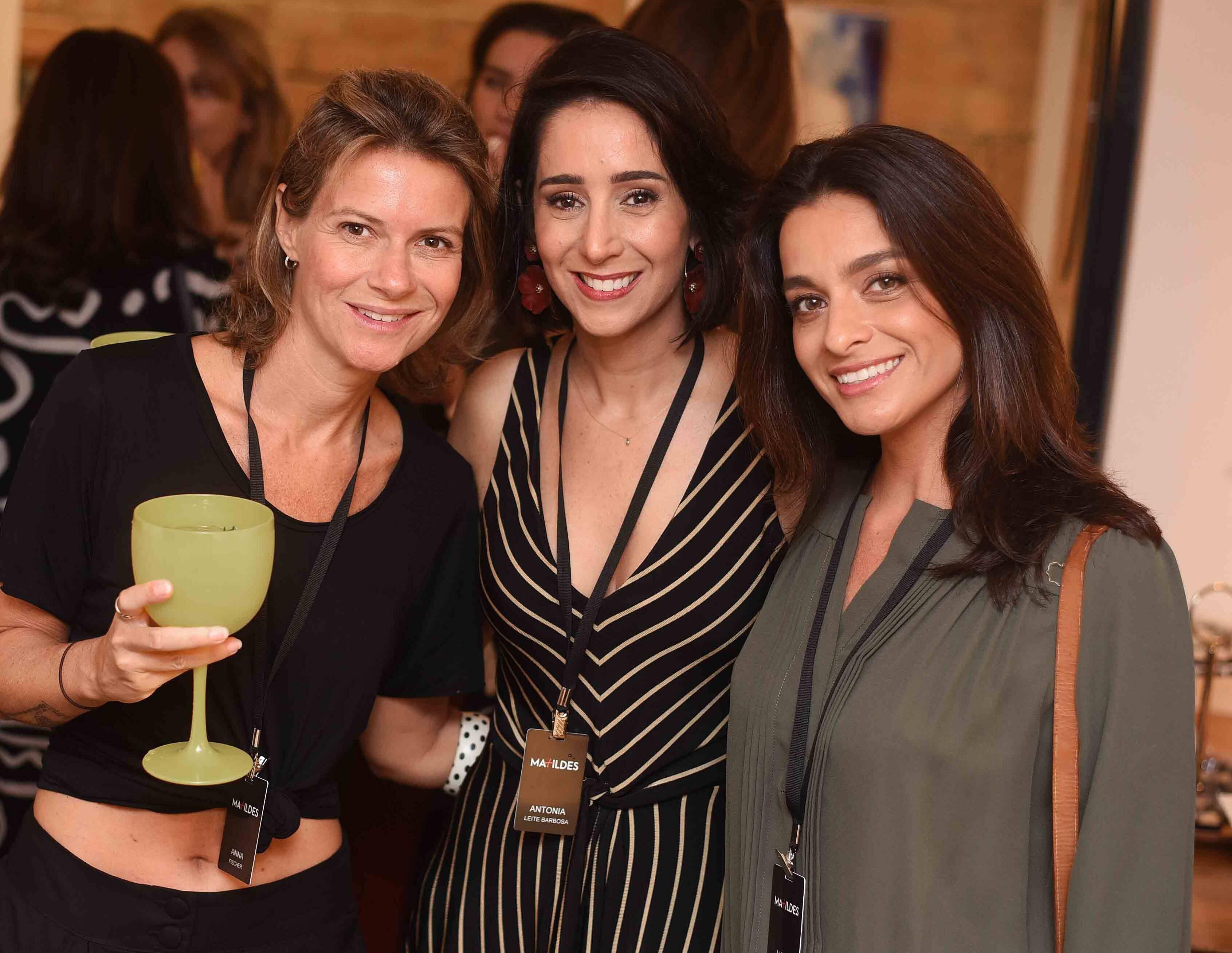 Anna Fischer, Antonia Leite Barbosa e Luiza Figueira de Mello  /Foto: Ari Kaye