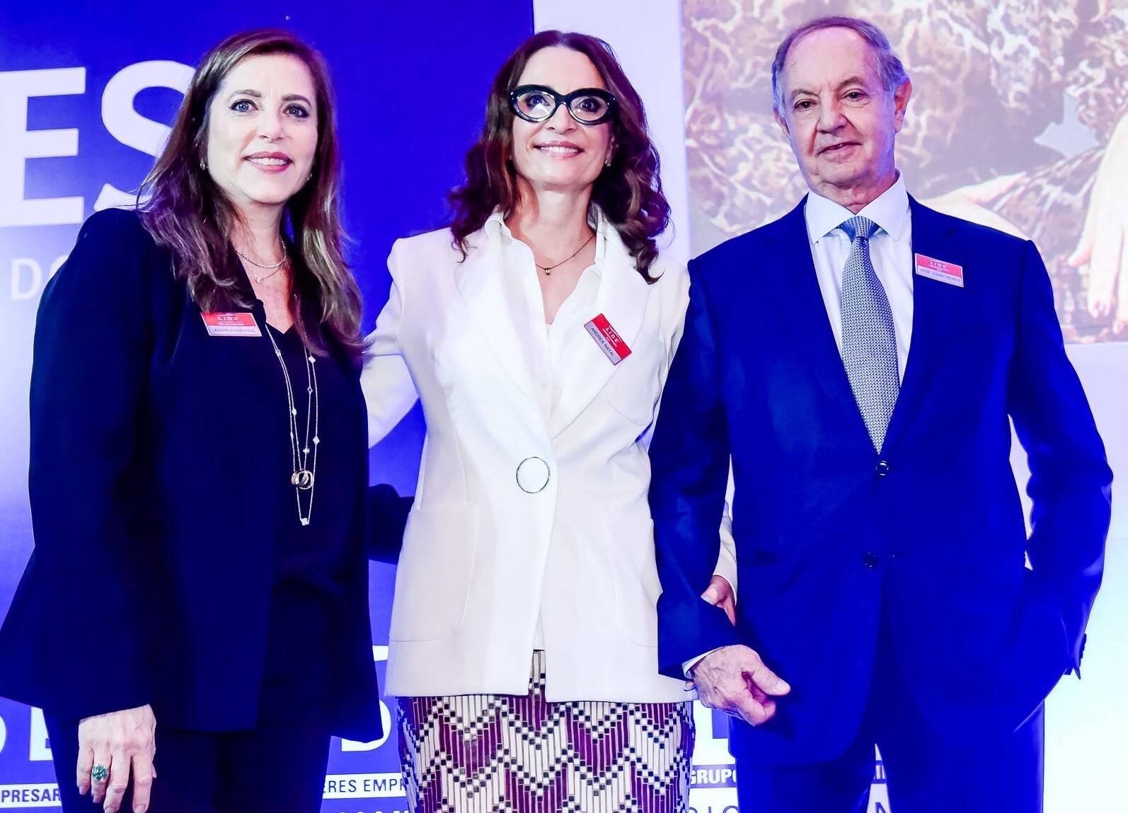 Andréia Repsold, Andrea Natal e José Isaac Peres /Foto: Renato Wrobel