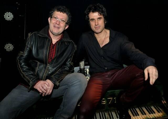 O diretor do musical, Paulo de Moraes, e Eriberto Leão