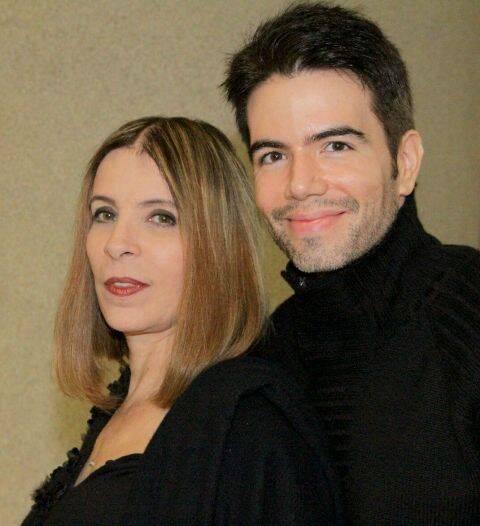 Liege Monteiro e Luiz Fernando Coutinho