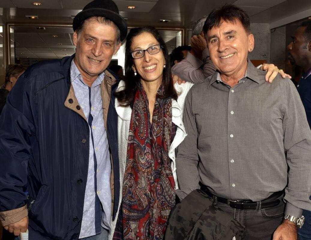 Giuseppe Oristânio, Karen Acioly e Claudio Rangel /Foto: Cristina Granato