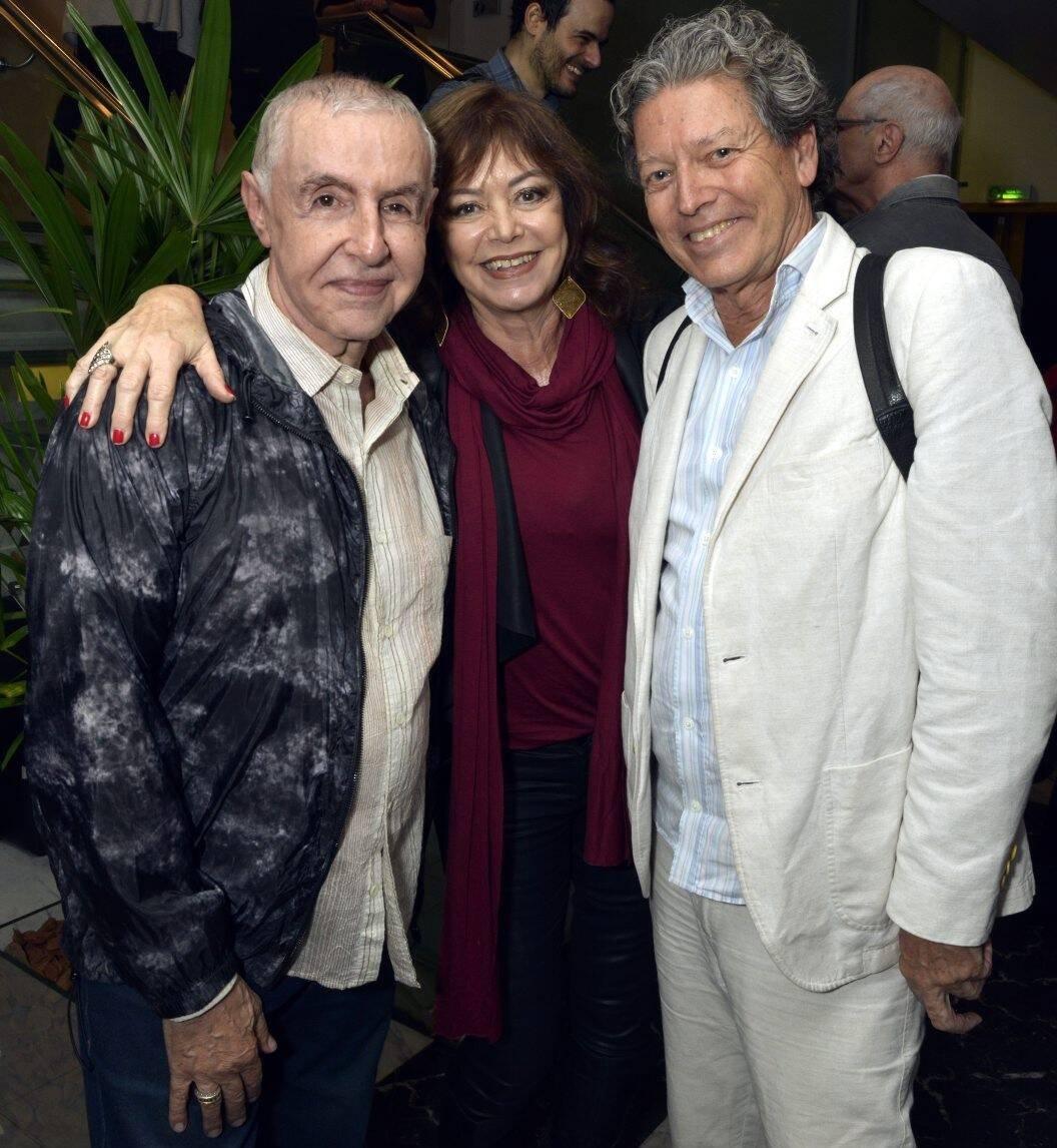 Elias Andreato, Alcione Mazzeo e Fernando Bicudo /Foto: Cristina Granato