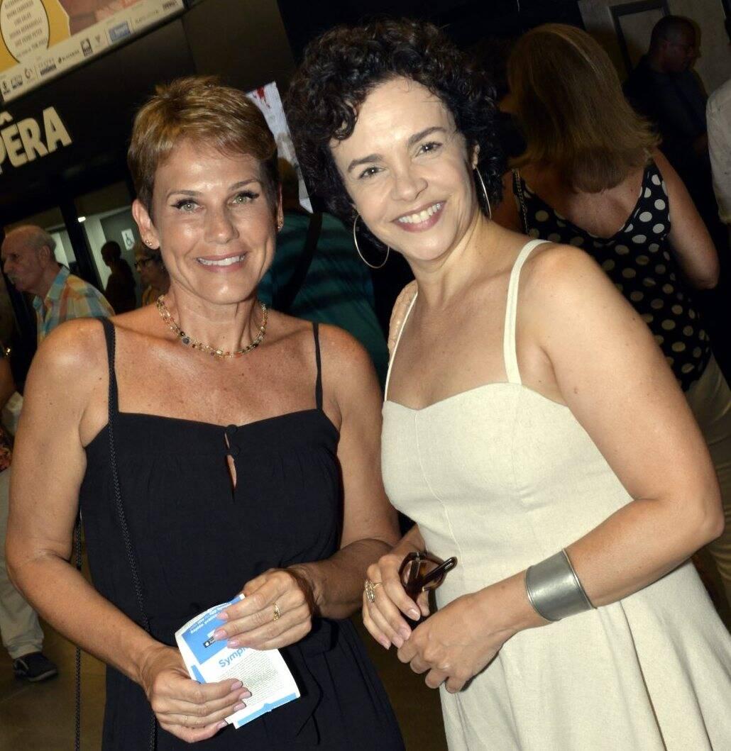 As atrizes Andréa Veiga e Luciana Braga