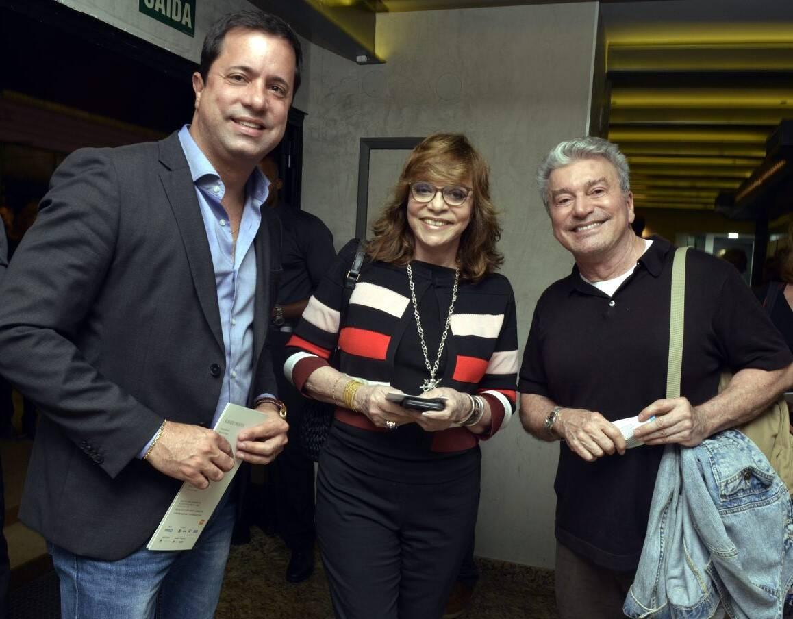 Eduardo Braule-Wanderley, Glória Perez e Edney Silvestre  /Foto: Cristina Granato
