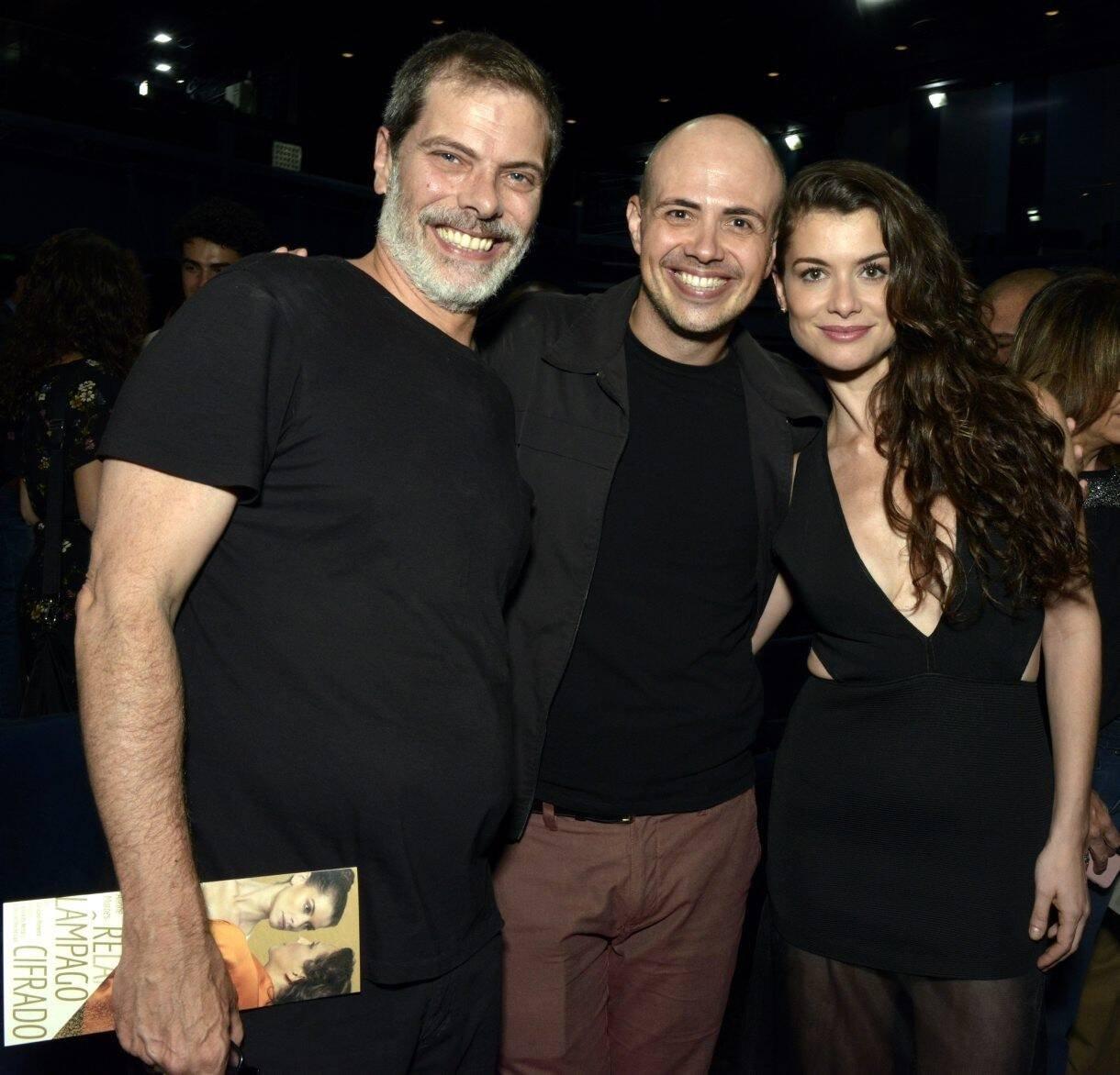 Luiz Henrique Nogueira,  Gustavo Pinheiro  e Alinne Moraes /Foto: Cristina Granato