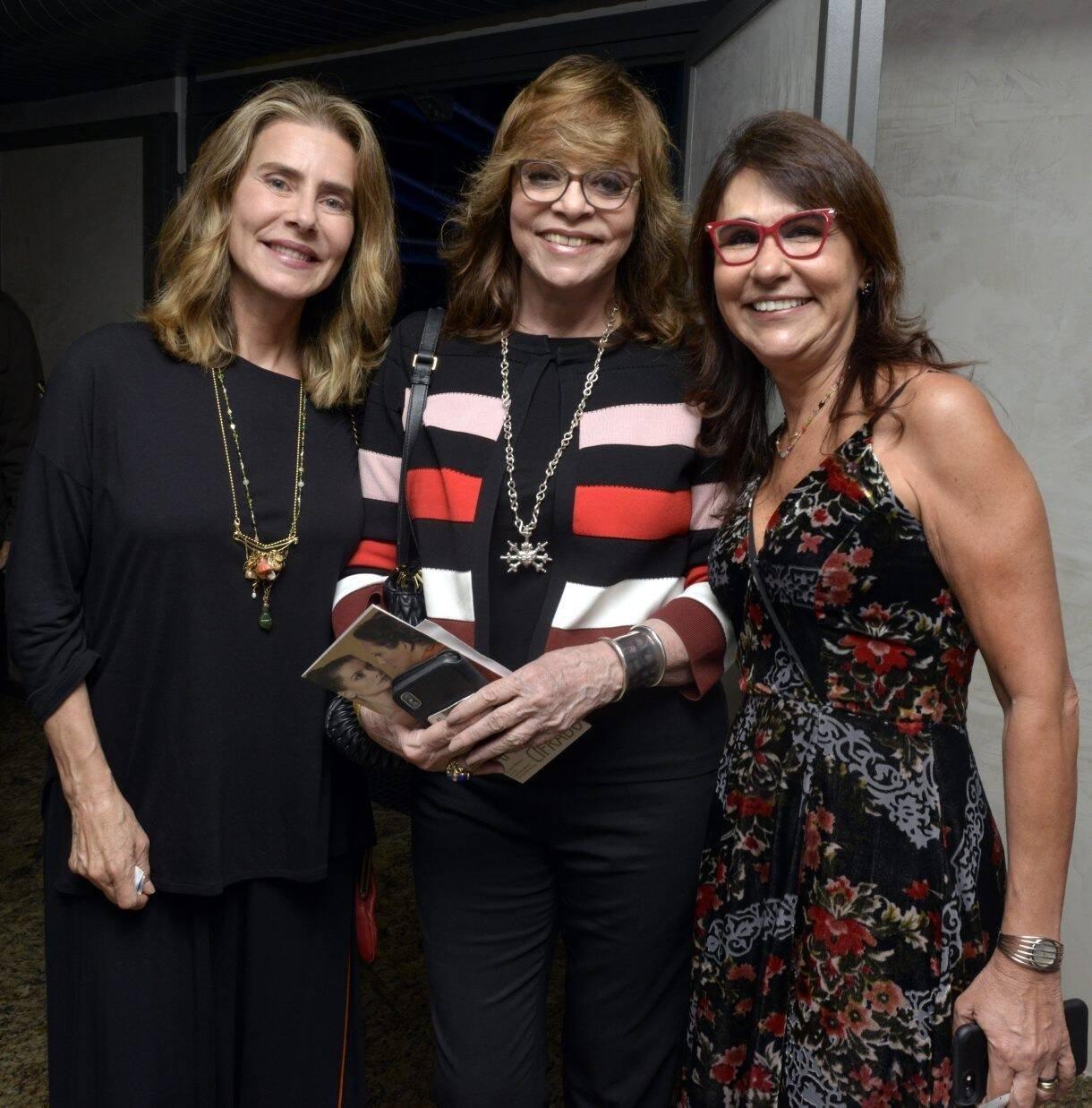 Maitê Proença, Glória Perez e Clarisse Derzié Luz  /Foto: Cristina Granato