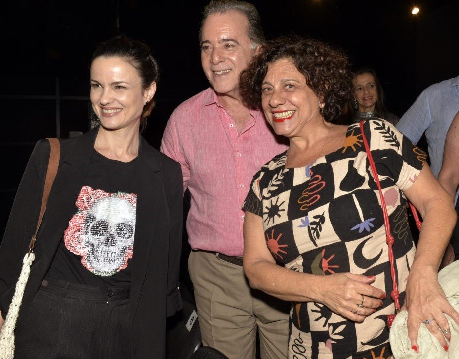 Carolina Kasting , Tony Ramos  e Catarina Abdala  /Foto: Cristina Granato