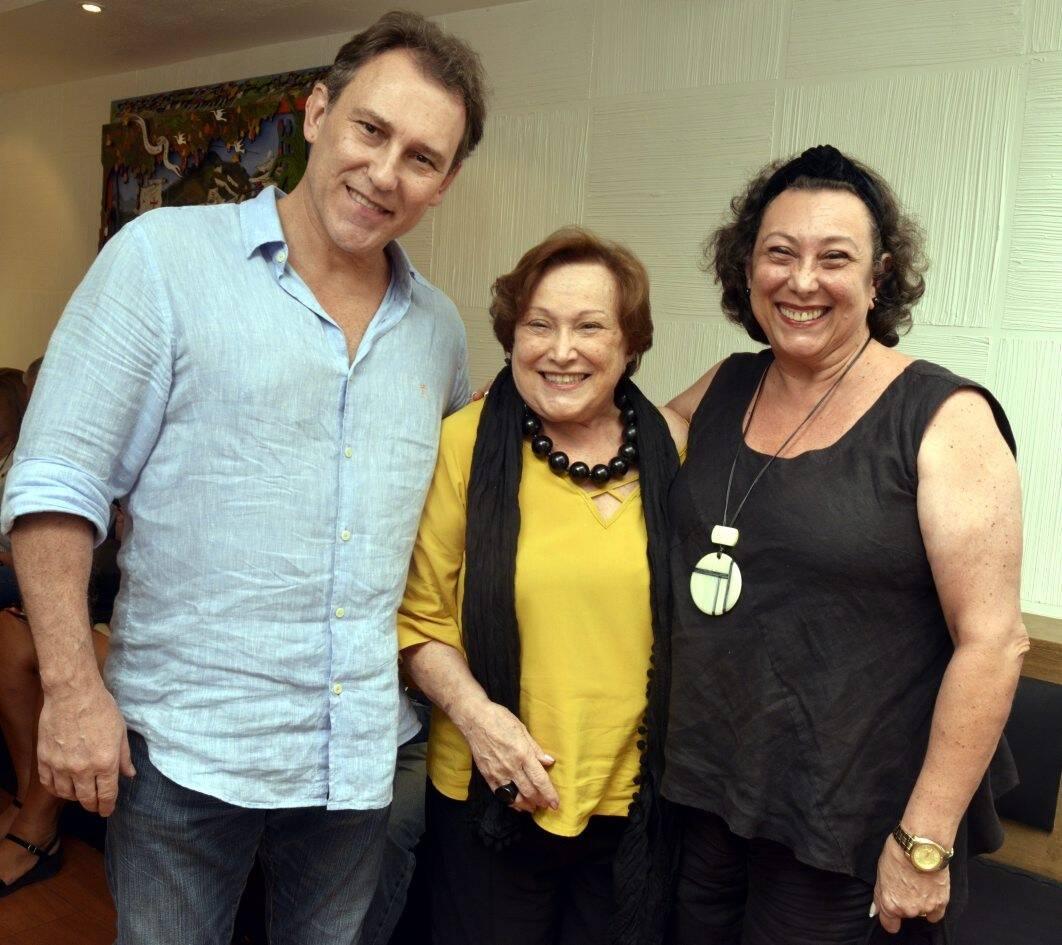Paulo Goulart Filho, Nicete Bruno e Barbara Bruno /Foto: Cristina Granato