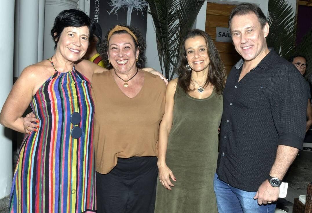 Thelma Guedes, Barbara Bruno, Katia Salomão e Paulo Goulart Filho  /Foto: Cristina Granato