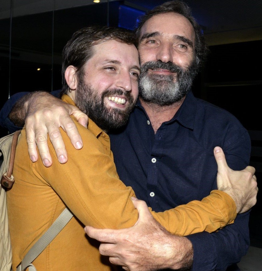 Gregório com o pai, Edgar Duvivier /Foto: Cristina Granato