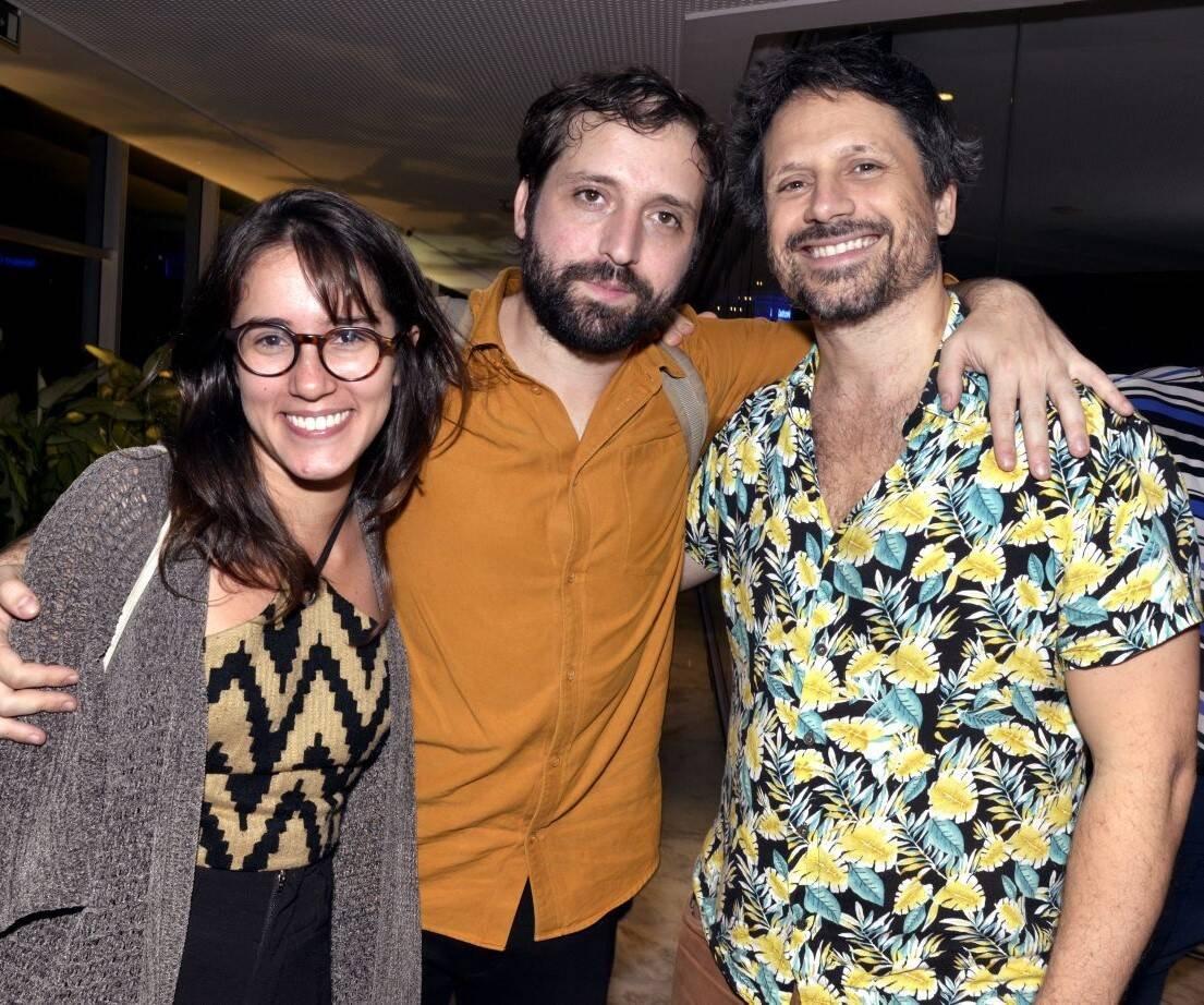 Luisa Spínola,  Gregório Duvivier e Felipe Rocha /Foto: Cristina Granato