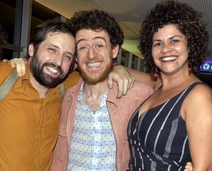 Gregório Duvivier, Vinícius Calderoni e Leila Moreno /Foto: Cristina Granato