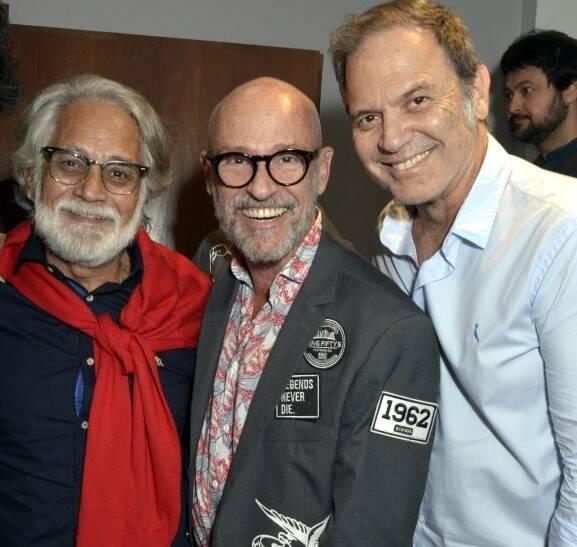 Julio Braga, Gilberto  Gavronski e Aloísio de Abreu /Foto: Cristina Granato