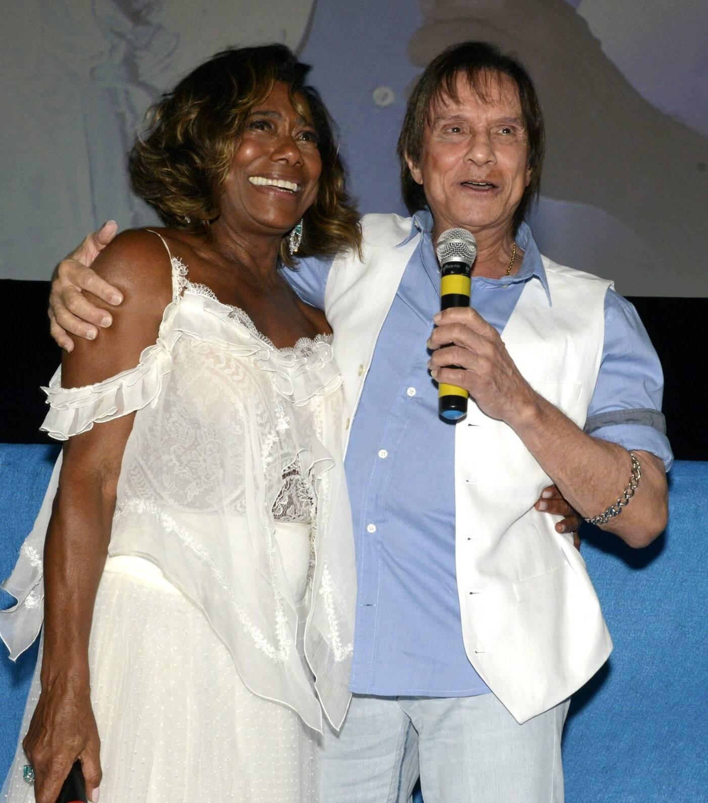 Glória Maria e Roberto Carlos /Foto: Cristina Granato