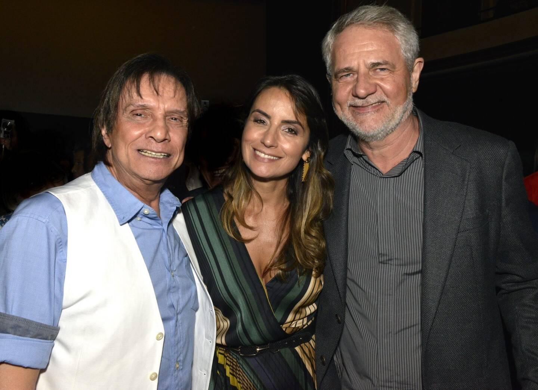 Roberto Carlos, Luciana Plaas e Carlos Henrique Schroder   /Foto: Cristina Granato