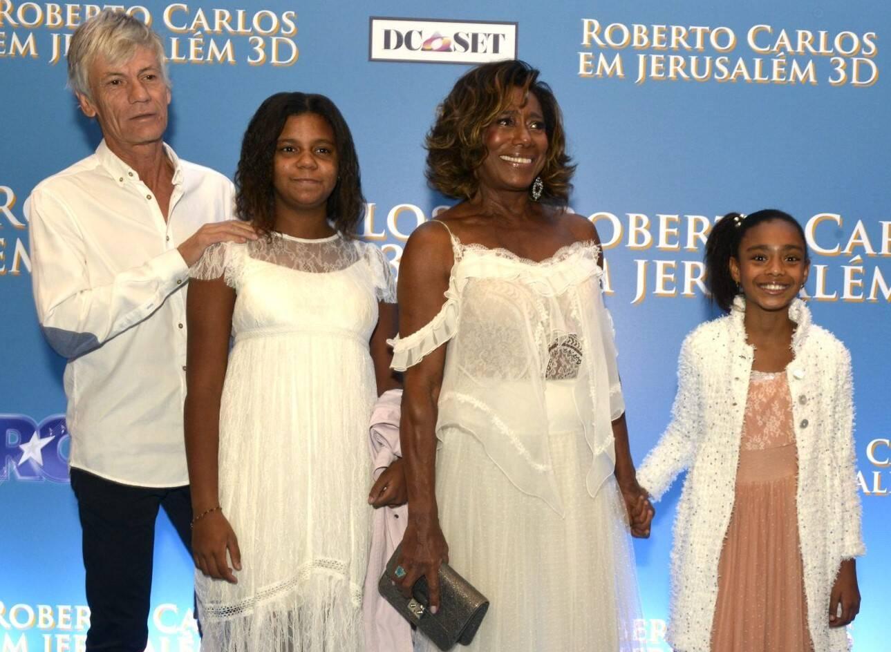 Eric Auguin,  Laura, Glória Maria e Maria  /Foto: Cristina Granato