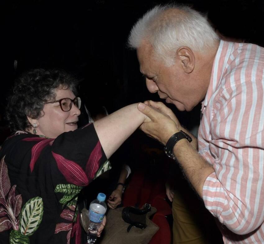 Cora Rónai e Antonio Fagundes /Foto: Cristina Granato
